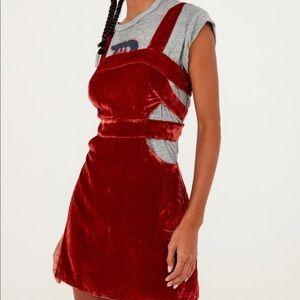 For Love & Lemons Kate Overall Velvet Dress